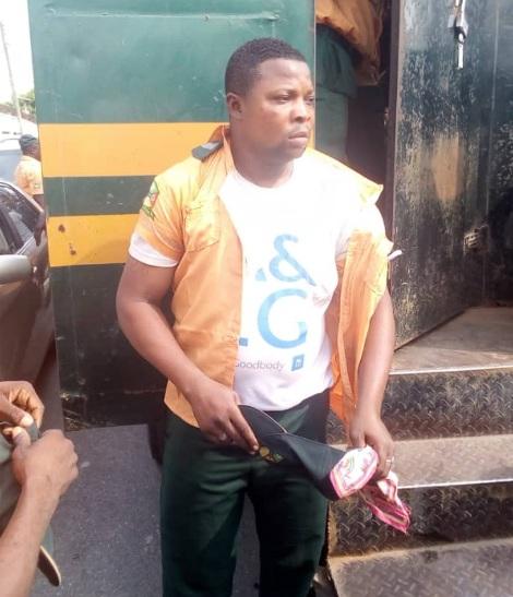 Photos: Operatives of Lagos State Environmental Sanitation Corps Attacked by Traders