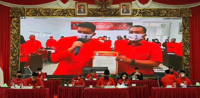 PDIP Resmi Usung Menantu Jokowi Berpasangan Dengan Kader Gerindra Di Pilkada Medan