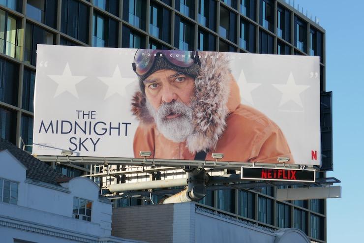George Clooney Midnight Sky FYC billboard