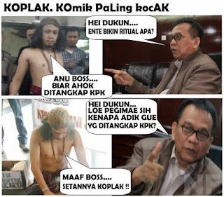 Kumpulan Meme Meme Kocak Terkait Kasus Ahok, sanusi dan dukun santet - naon wae news