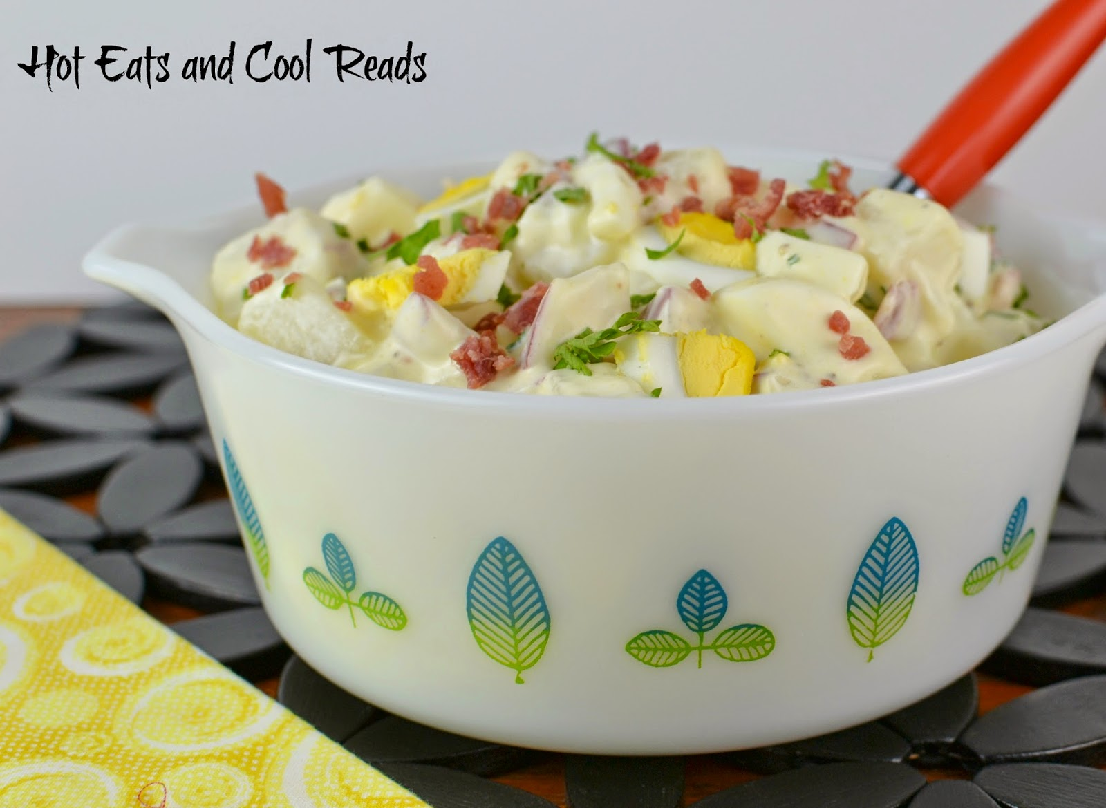 This salad is packed full of flavor with the hard boiled eggs, bacon and potatoes, and the sauce is tangy and delicious! You really can't go wrong with all these flavors mixed together! Bacon Lovers Potato Salad from Hot Eats and Cool Reads