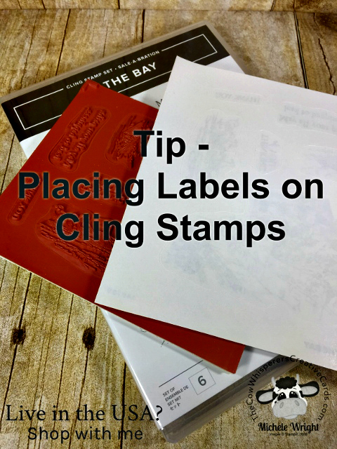 Tip, Cling Stamps, Labels, Stampin Up