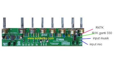 cara mengatasi input mic serak pada mixer rakitan
