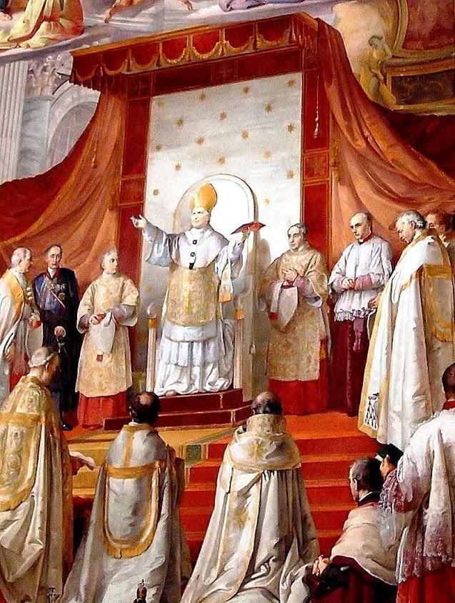 O Beato Pio IX proclama o dogma da Imaculada Conceição. Franceso Podesti (1800–1895), Museus Vaticanos