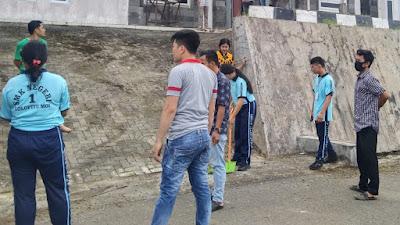 Sekdis : Pimpin Aksi Gorong-gorong Dilingkungan Perkantoran Dinas Kelautan Dan Perikanan Nias Barat