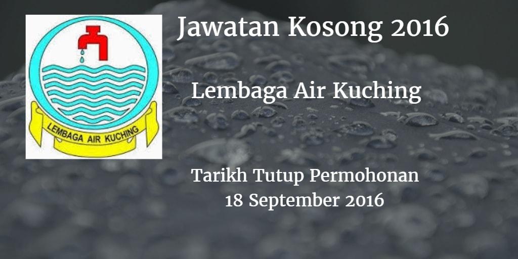 Jawatan Kosong Lembaga Air Kuching 18 September 2016