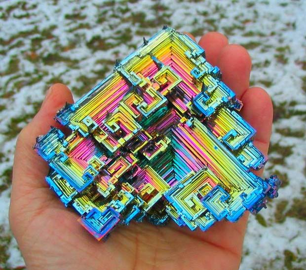 Bismuth Crystals - 28 Awe Inspiring Photos That Prove Just How Cool Mother Nature Is