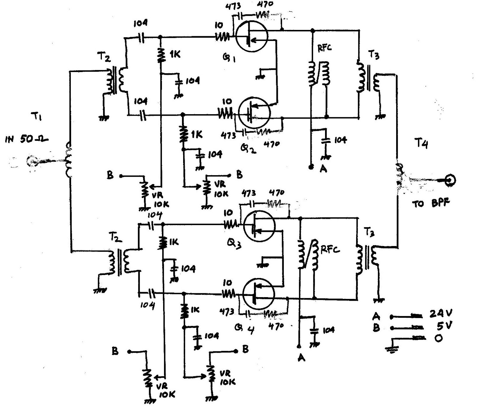 Schematic 300w Rf Amplifier Using Low Priced Mosfet
