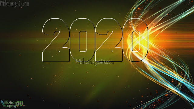 New Year 2020 HD Photos With Sparkling Background Download For Desktop