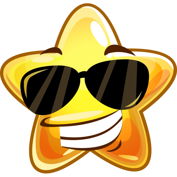 Sunglasses Star Sticker
