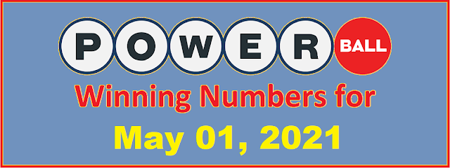 PowerBall Winning Numbers for Saturday, May 01, 2021