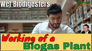 Featured image for the article and video about the Working of a Wet Biodigester Biogas Plant.