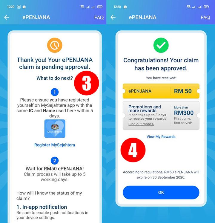 Cara-Cara Nak Dapatkan RM50 ePenjana Menerusi Touch n Go