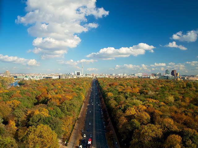 Tiergarten y la Strasse des 17. Juni