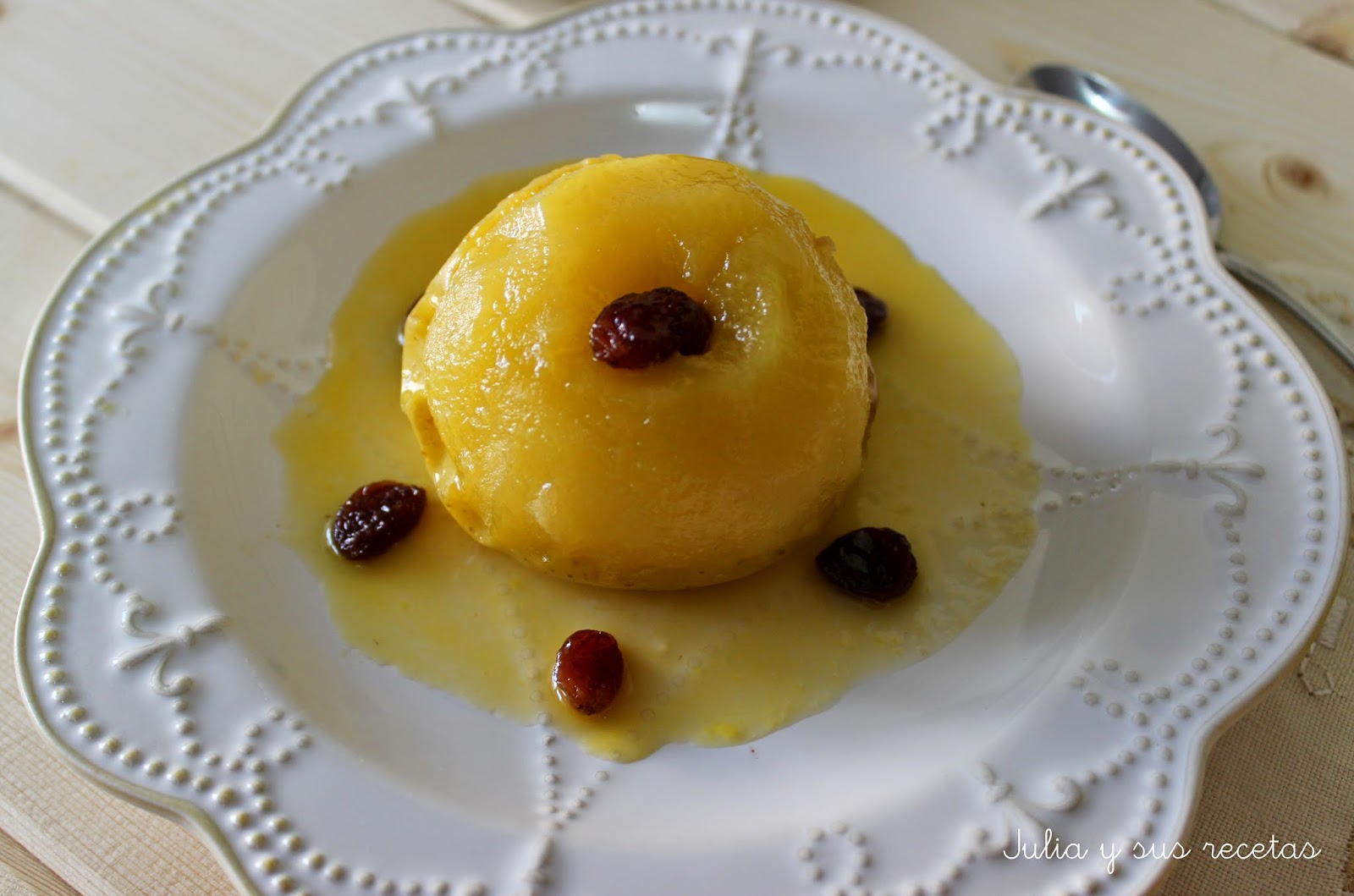 Manzanas a la miel al microondas. Julia y sus recetas
