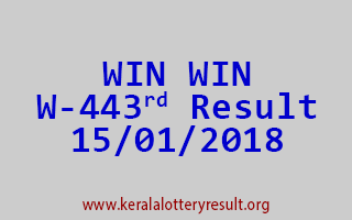 WIN WIN Lottery W 443 Results 15-01-2018