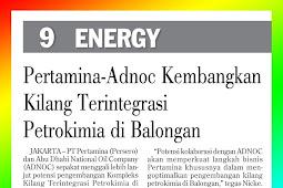 Pertamina-Adnoc Develops Petrochemical Integrated Refinery in Balongan