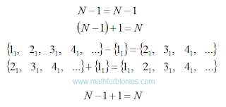 One set of natural numbers. Mathematics For Blondes.