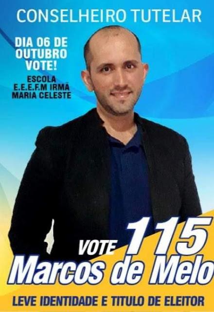 Conheça o perfil do Candidato ao Conselho Tutelar Marcos de Melo