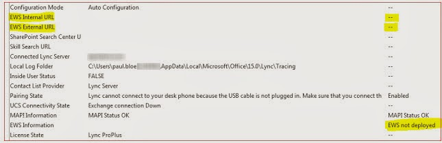 Troubleshooting Lync: EWS not working externally