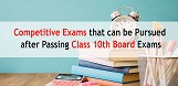 competitive exam options available for the students who passed the 10th exams.