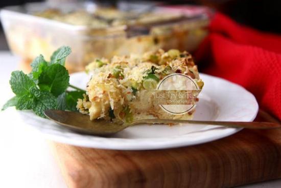 Resep Savory Bread Pudding JTT