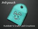 mini felt pouch