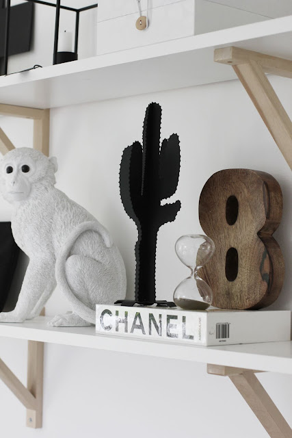 annelies design, webbutik, webbutiker, kaktus, kaktusar, apa, timglas, siffra, åtta, hylla, chanel