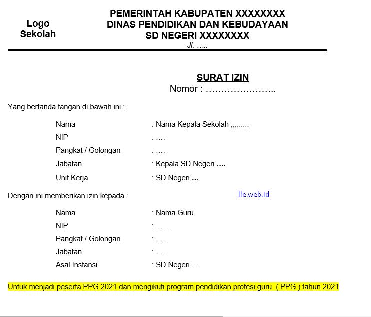 Surat Ijin PPG 2021