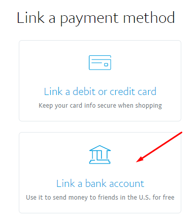 link a payment method
