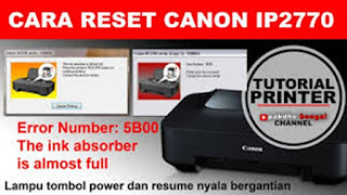 Lampu Printer Canon iP2770 Berkedip
