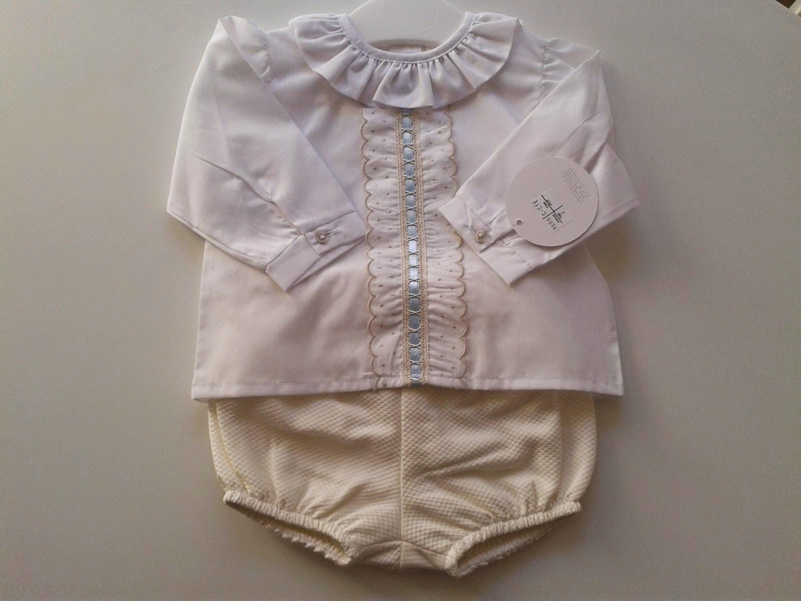 c1929f92c Lazos Bebés  Camisa bebé batista y ranita bombacha.
