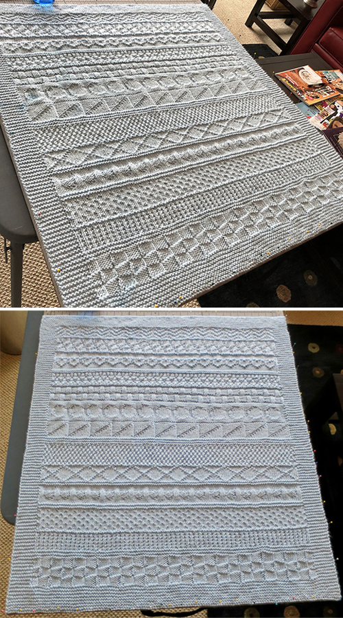 Easy Knit & Purl Baby Blanket - Free Knitting Pattern
