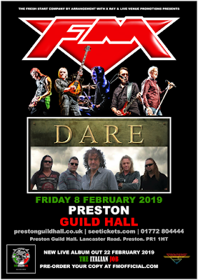 FM + Dare - Preston Guild Hall 8 Feb 2019 - poster