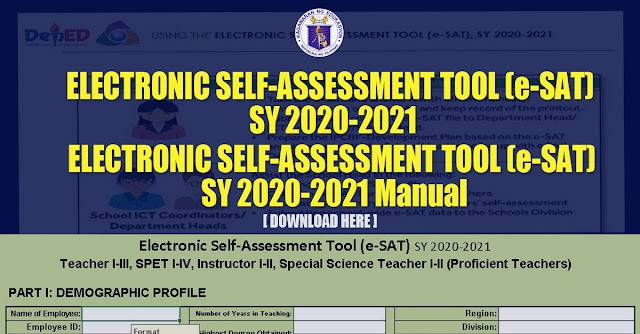 ELECTRONIC SELF-ASSESSMENT TOOL (e-SAT) and Manual for SY 2020-2021