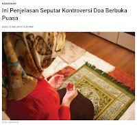 Ini Penjelasan Seputar Kontroversi Doa Berbuka Puasa - Kajian Islam Tarakan