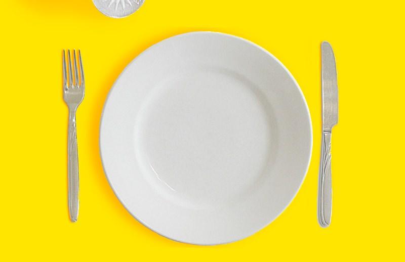 prato de jantar