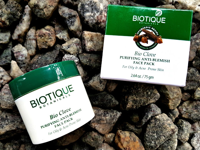 Biotique Bio Clove Purifying Anti-Blemish Face Pack - For Oily & Acne Prone Skin
