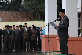 Wakil Ketua Pengadilan Tinggi Agama Palembang Pimpin Upacara Bendera Dalam Rangka Memperingati Hari Lahir Pancasila 1 Juni 2019