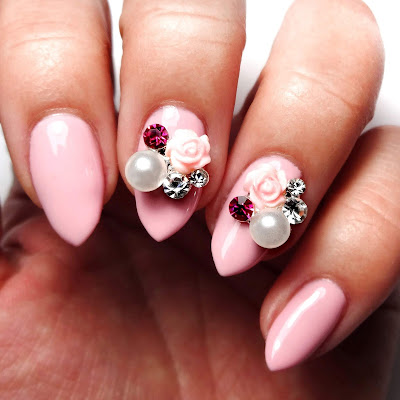 Pink Pearl Nails