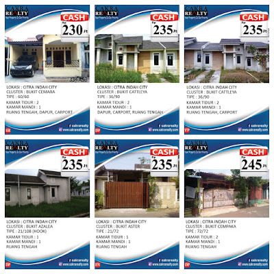 Rumah Secondary Citra Indah City cash 230 - 245  juta