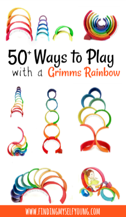 50 different Grimms Rainbow play ideas