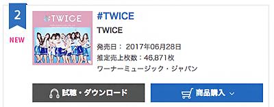 Chart Oricon Twice