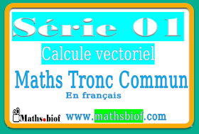 Série01 : calcule vectoriel Exercices Corrigés mathématique tronc commun bac international