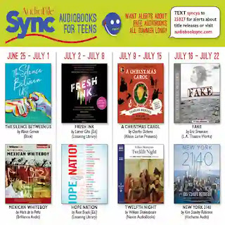 A screenshot of the audiobooks available for the third quarter. All the information is available in the post.