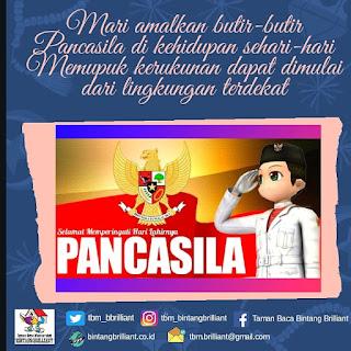 Butir-Butir Pancasila Reminder Peringatan Hari Lahir Pancasila