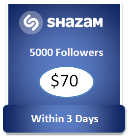 5000 buy Shazam Followers