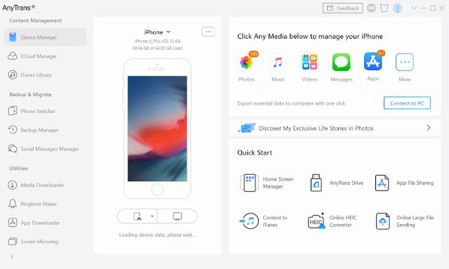 برنامج  AnyTrans for iOS 8.8.0.20200929  لادارة هاتفك الايفون  بكل سهولة