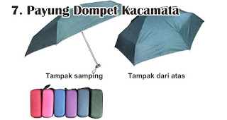 Payung Dompet Kacamata merupakan salah satu jenis payung yang bisa kamu jadikan souvenir