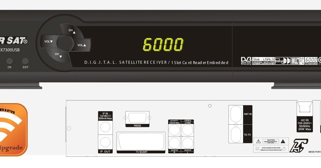 7300 STARSAT TÉLÉCHARGER USB MENU